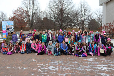 2019 WOW Badge Group of Girl Scouts