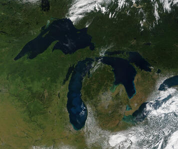 Great Lakes from Space High Res