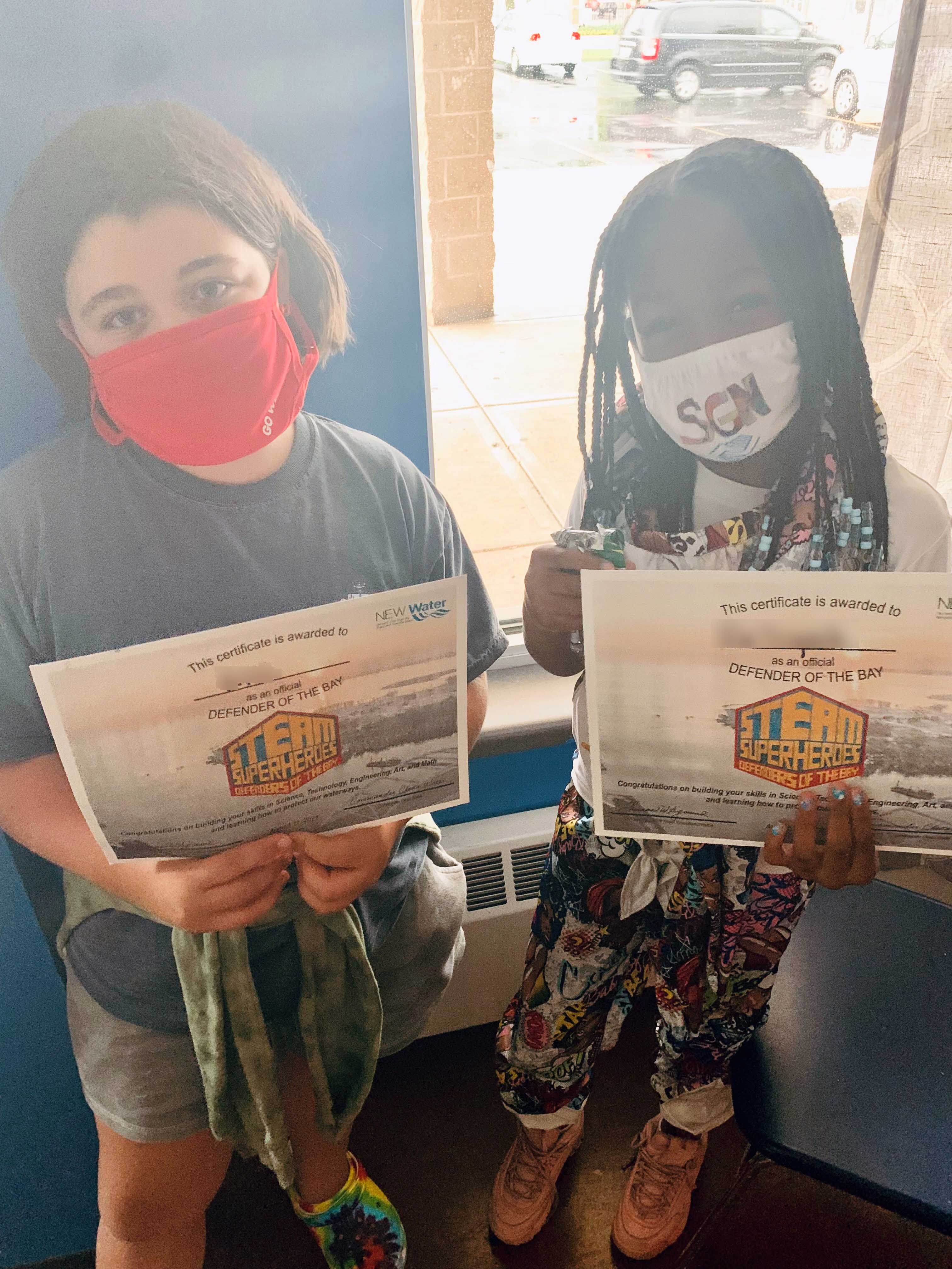 Girls with Certificates - names blurred