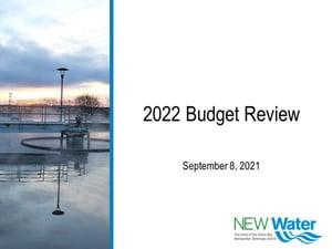 2022 NEW Water Update Meeting 9-8-2021