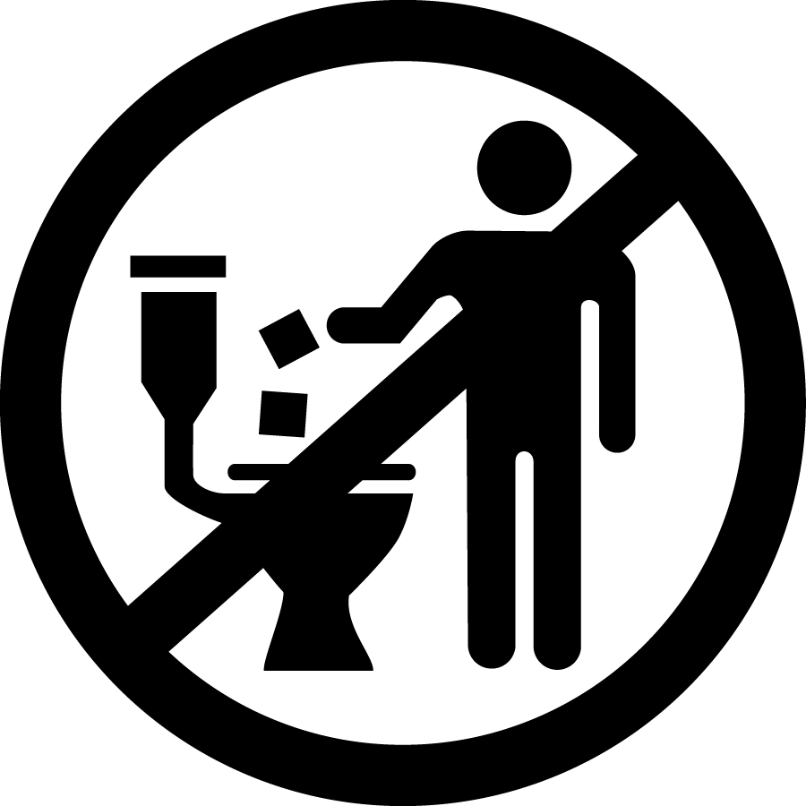 Your Toilet is NOT a Trashcan Graphic