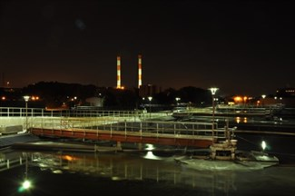 Clarifiers at Night in the 2000