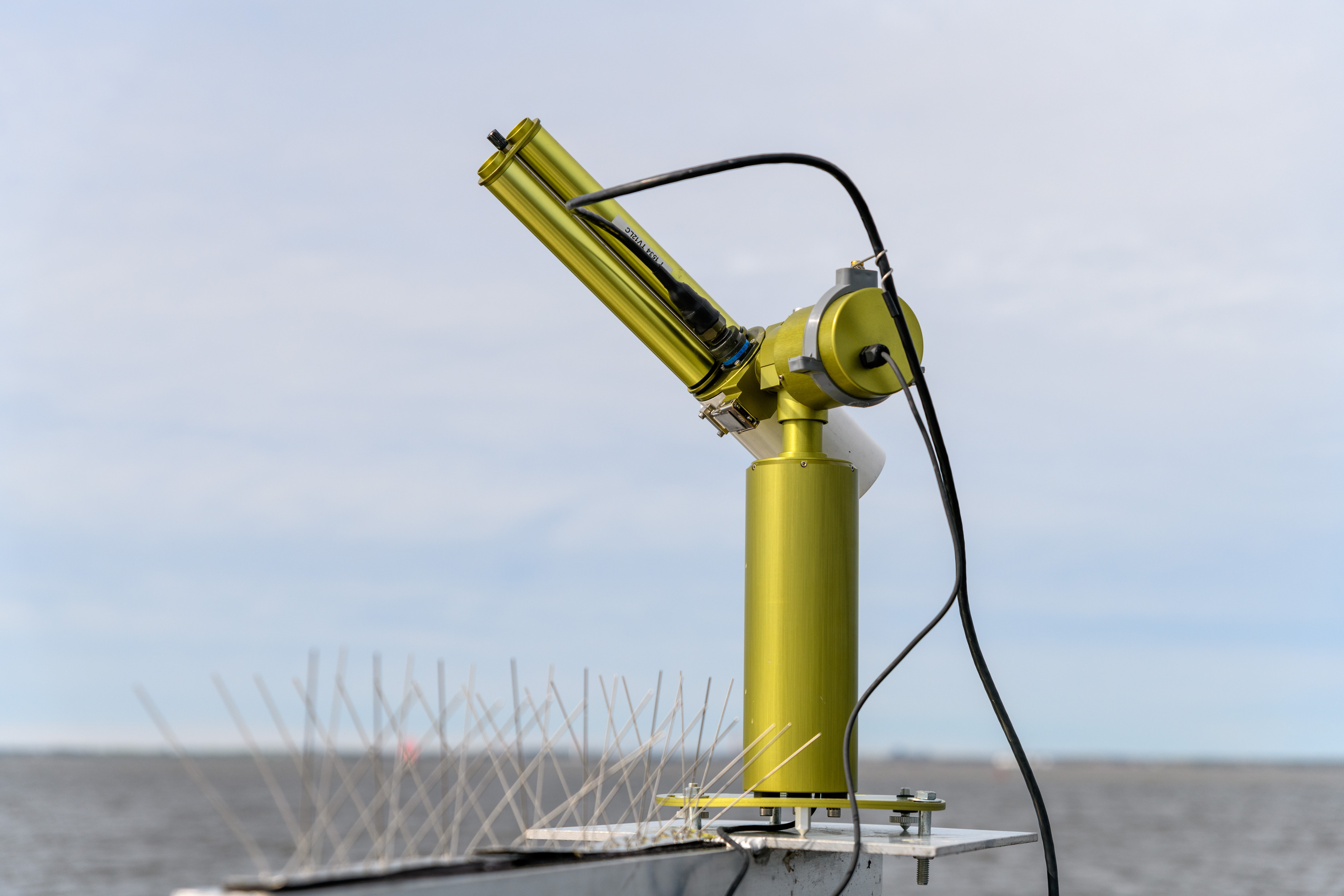 Close-up of the SeaPRISM Device