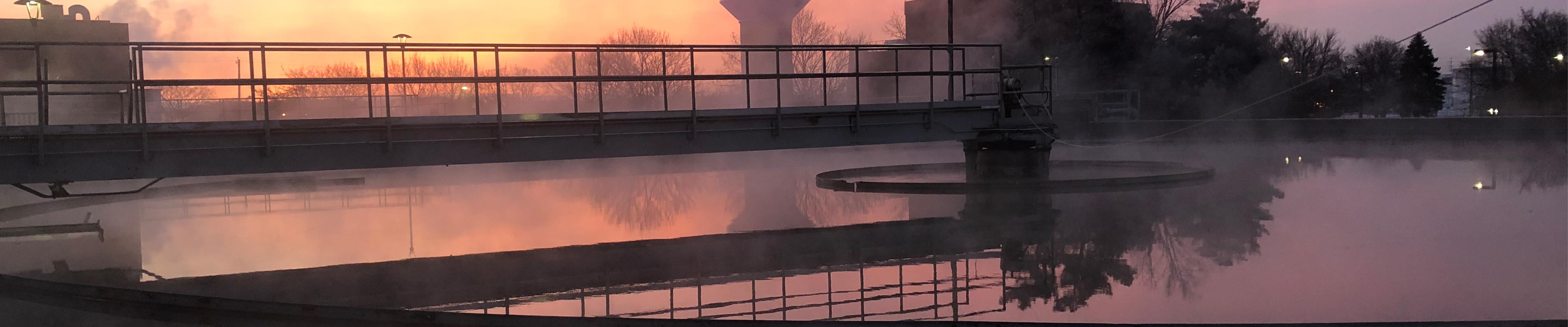 Sunrise on clarifiers